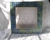 Mirror Frame Faux Mosaic in Blue