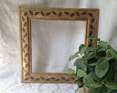 Reserved for Lin - Painted Square Mirror in Earth Tones