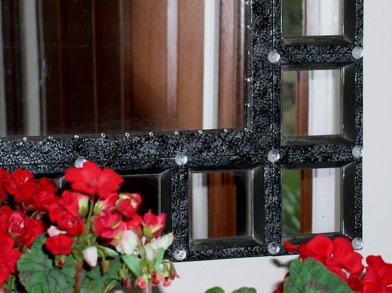Mirror - Black , Metal, Mediterranean Style