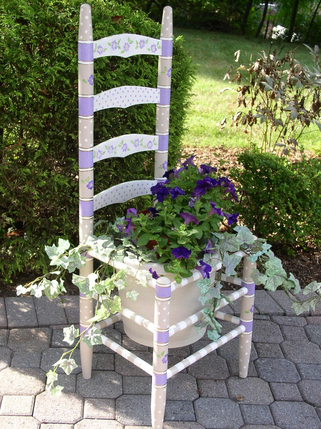 Hand Painted Chair Planter