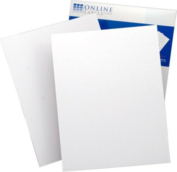 Waterproof Labels 100 White Inkjet Printable By