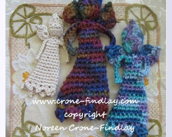 Crocheted Angel of Compassion doll pdf pattern