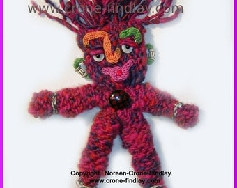 PDF Pattern for Wild and Woolie Spool knitted Doll
