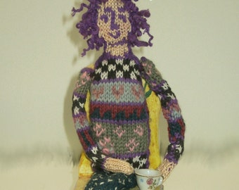 PDF Pattern for Knitted Lily Doll by Noreen Crone-Findlay