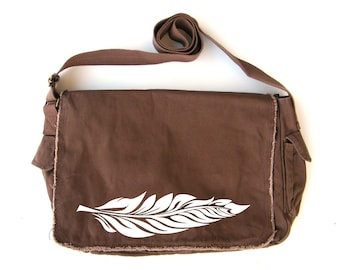Feather Messenger Bag