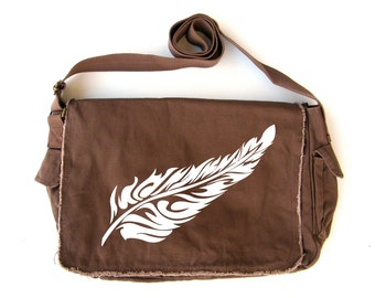 Feather Messenger Bag
