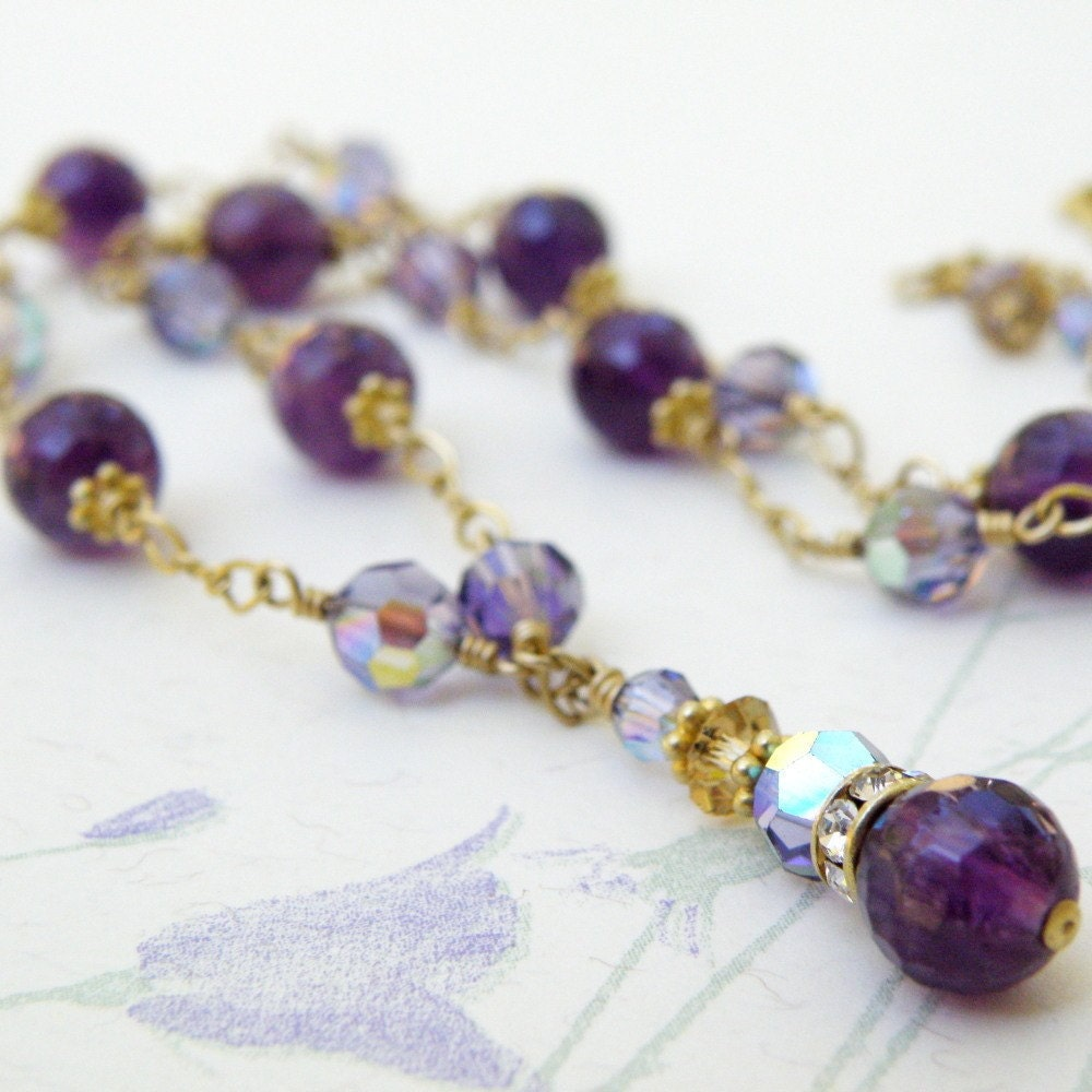 amethyst stone necklace - photo #3