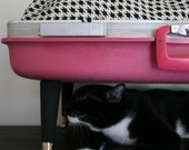 Upcycle - Suitcase Pet Bed - Pink and Black