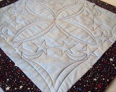 Quilted Patriotic Table Runner Wallhanging -  Memorial Day or 4th of July - Table Mat