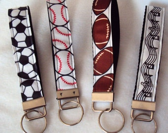 SALE - Sports and Musical Wristlets/Key Fob - Reg 6.50