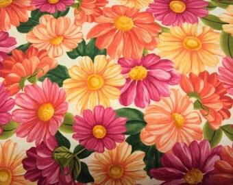 Cream Daisy Fabric - 1.33 yds + 1/3 yd - Blossom -  Timeless Treasures