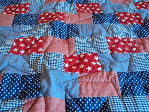 Red White And Blue Patriotic Quilt