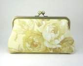 MOVING SALE -  Yellow Rose Garden Clutch Purse