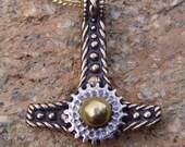 Bronze Clockwork Steampunk Thor's Hammer