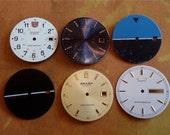 Vintage Antique Watch  Assortment Faces - Steampunk - Scrapbooking L93