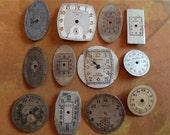 Vintage Antique Watch  Assortment Faces - Steampunk - Scrapbooking D32