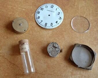 Steampunk Destash - Vintage WATCH PARTS gears - Steampunk parts - r5 Listing is for all the watch parts seen in photos