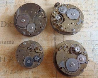 Vintage Antique Watch movements Steampunk - Scrapbooking q1