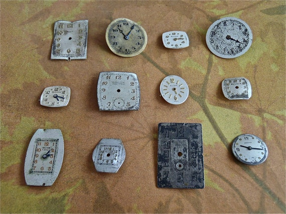 Watch Parts - Watch Faces -  Assortment Faces - Steampunk - Scrapbooking i4