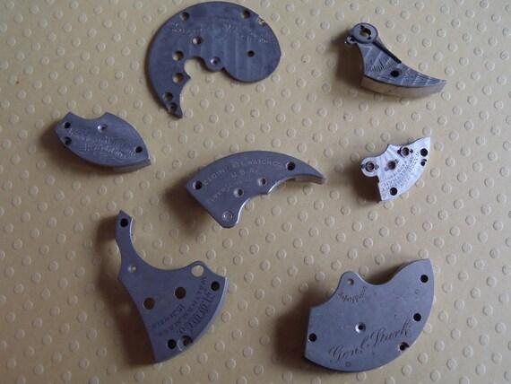 Vintage metal pocket Watch plates  - Steampunk - Scrapbooking K87