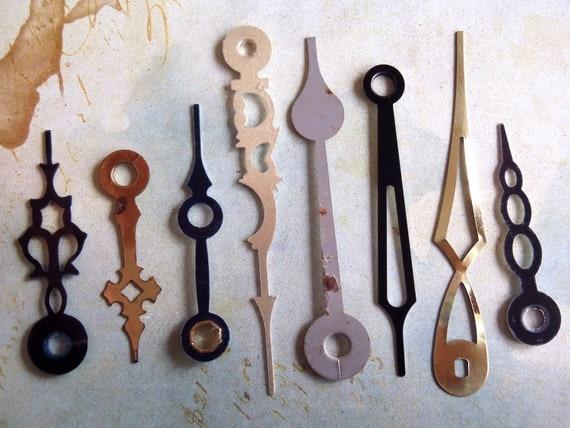 Featured - Vintage Antique Watch parts Clock Hands- Steampunk - Scrapbooking k65