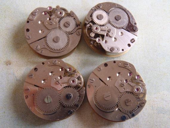 Vintage Antique Watch movements Steampunk - Scrapbooking S84