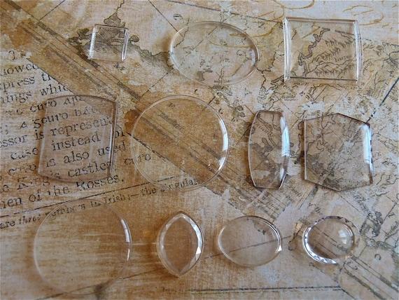 Vintage  Watch parts crystals- Steampunk - Scrapbooking y64
