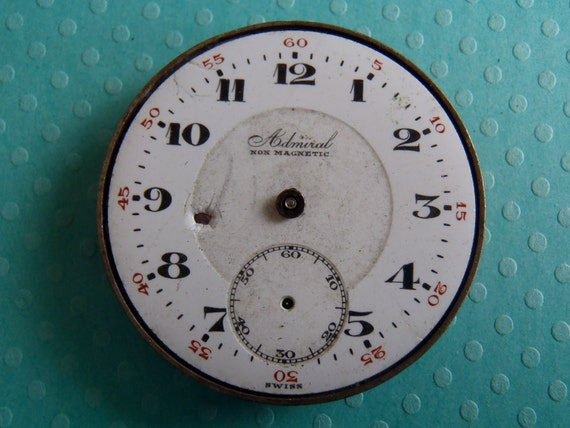 Vintage pocket Watch movement - Steampunk - Scrapbooking 61M