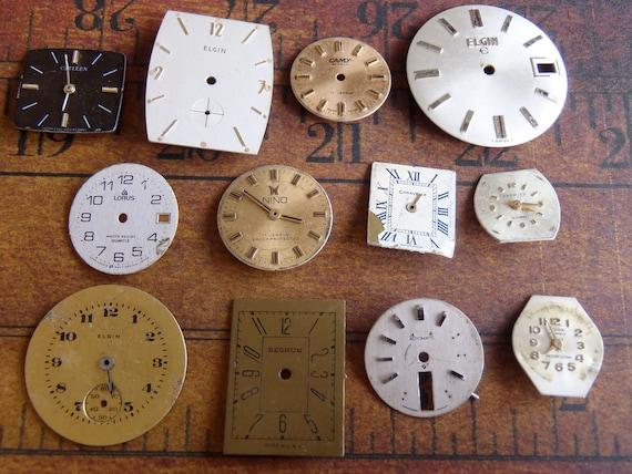 Watch Faces - Featured - Vintage Antique Watch faces -  Assortment Faces - Steampunk - Scrapbooking j74