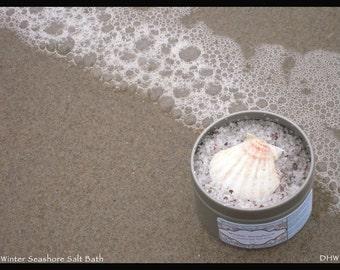 Winter Seashore  Aromatherapy Salt Bath 4 oz.
