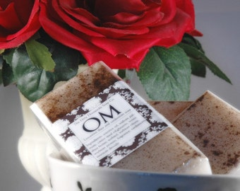 OM . Shea Butter soap. Earthy Champa, sandalwood, cannabis, cardamom. Peace and Love and Hippy Chick stuff