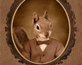 8x10 inch Hot Digital Dog Squirrel Twin Earl