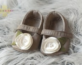 ISLA Baby Girl Shoes - Ready to ship size 12-18m(FREE coordinating headband)