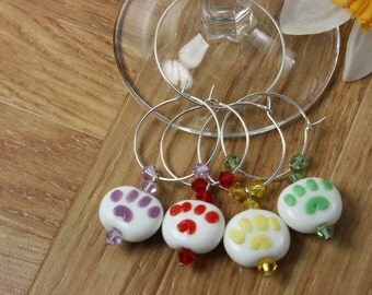 4 Perfect Paw Wine Charms