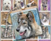 Cute Cats and Dogs 2 - Digital Collage Sheet - .75 x .83 inches Great for Scrabble Tile Pendants - Buy 2 Get One FREE