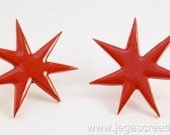 Jem And The Holograms Star Earrings 80s Punk Kitsch RED - Cosplay Prop - 80's earrings - Costume - The Misfits - Jem Star Earrings - Jewelry