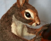 2010 Golden Teddy Award Winning Design OOAK Needle felted Life Size Nutkin Mother squirrel Free shipping