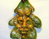 Special price...Small Leaf Spirits Green Man Spring Summer Fall colors Artist Design Doll