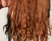 "Natural Suri Alpaca 6-8"" Locks Weft 36"" L Perfect for Doll Wig Making, Reborns, Rooting"