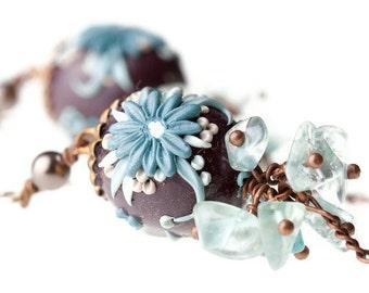 chocolate mint truffles on the rocks - long lantern earrings