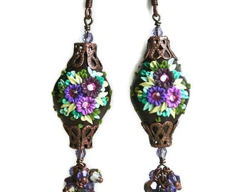 ode to the passionfruit - sublime dangling earrings