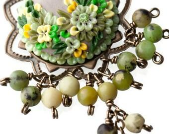 longing for spring - luscious long earrings