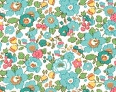 Liberty Fabric Betsy D Turquoise Tana Lawn Fat Quarter