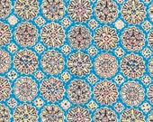 Liberty Tana Lawn Helena's Party Fabric Fat Quarter Turquoise