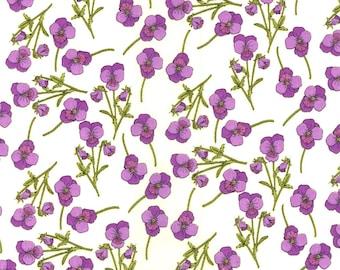Liberty Tana Lawn Ros Violet Fabric Fat Quarter