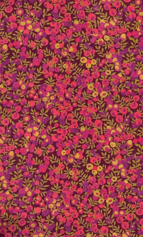 Liberty Tana Lawn Wiltshire Burgundy fabric Large Fat Quarter