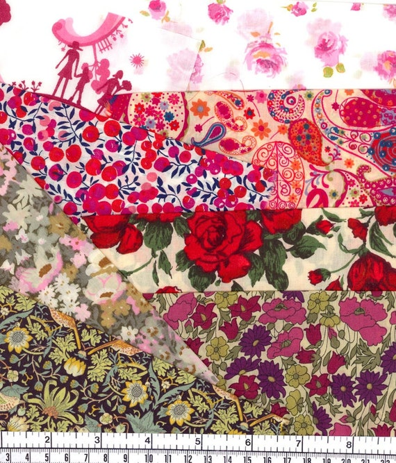 Fabulous selection of scraps from Liberty of London Multicoloured 403