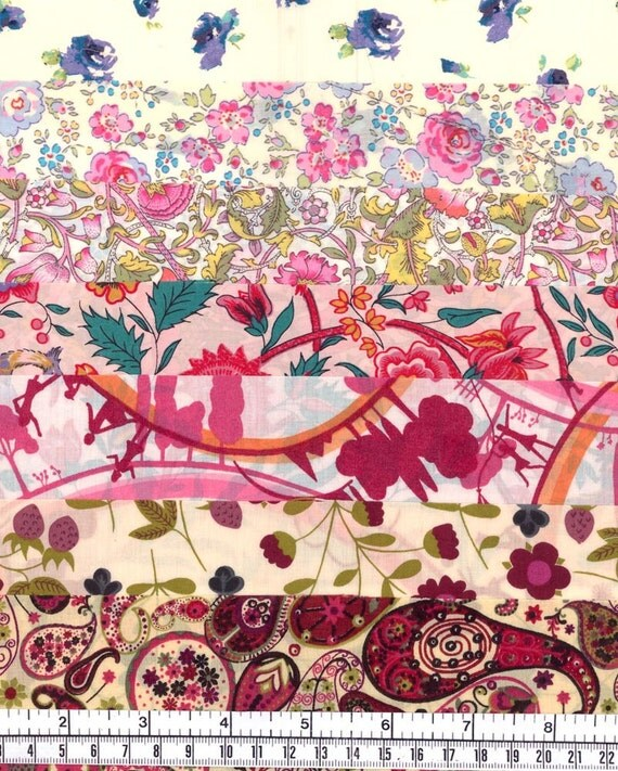 Fabulous selection of scraps from Liberty of London Multicoloured 245
