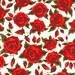 Stunning Red Roses Liberty of London Tana Lawn Fabric Half Yard