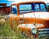 Orange Rural Truck Bozeman Montana 8x12 Photo Print